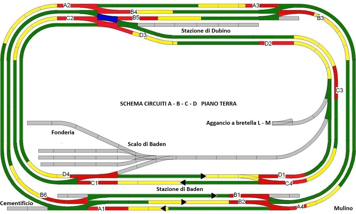 Schema Elettrico Per Plastico Ferroviario : Schemi elettrici per plastici ferroviari sistema di